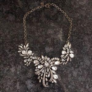 J. Crew Factory Gold & Rhinestone Collar Necklace